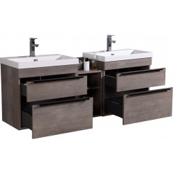 VOGUE Wall Vanity 1500mm - Stone Resin Top & center cabinet