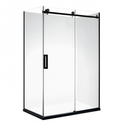 VOGUE Frame-less Rectangle Shower 1200 x 900mm Left Door (right hand) 40mm Profile Tray