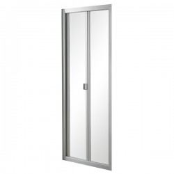 VOGUE Alcove 3-Sided Shower 900mm Bi-Fold Door With Liner & 60mm Profile Tray Centre Waste
