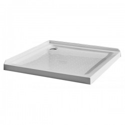 VOGUE Square Shower Tray 1000mm Corner Waste 60mm Profile