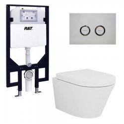 VOGUE Lecco Wall Toilet Pan & Full frame Inwall Cistern COMBO