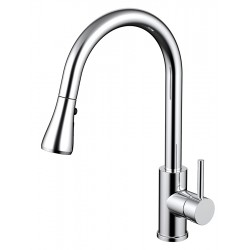 VOGUE Linear Pull Out Kitchen Mixer Chrome