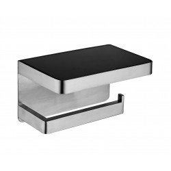 VOGUE Toilet Roll Holder with Glass Shelf