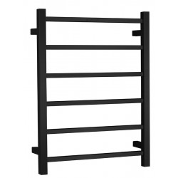 VOGUE 6 Bar Heated Towel Rail 520mm Black - Right