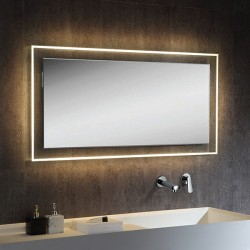 VOGUE LED adjustable temperature mirror 1200 x 600mm touch sensor switch
