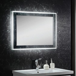 VOGUE LED adjustable temperature mirror 900 x 750mm touch sensor switch