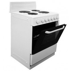 Freestanding Oven 70L White with Solid Hotplates