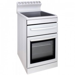 Freestanding Oven 540mm White With 4 Zone Ceramic Cooktop