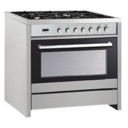 VOGUE Freestanding Oven 107L 8 Function 900mm With 5 Gas Burners