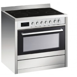 VOGUE Freestanding Oven 107L 8 Function 900mm With 5 Ceramic HOB