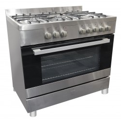 VOGUE Freestanding Oven 109L 9 Function 900mm With 5 Gas Burners