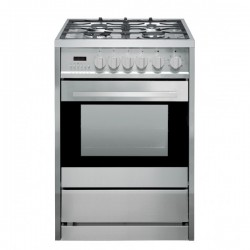 VOGUE Freestanding Oven 56L 600mm Stainless Steel With 4 Zone Gas Cooktop