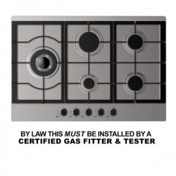 VOGUE Gas Cooktop Stainless Steel 750mm
