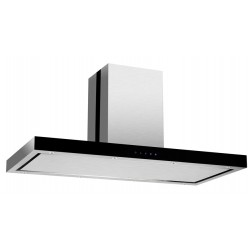 VOGUE Island Rangehood 1200mm Stainless Steel Black Fascia