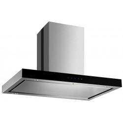 VOGUE T-Canopy Island Rangehood 900mm Stainless Steel Black Fascia