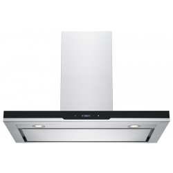 VOGUE T-Canopy Rangehood 900mm Stainless Steel Black Fascia