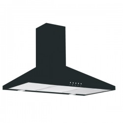 VOGUE Canopy Rangehood 900mm Black