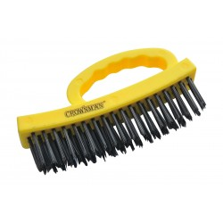 CROWNMAN Wire Brush With Plastic Handle - 4x18mm