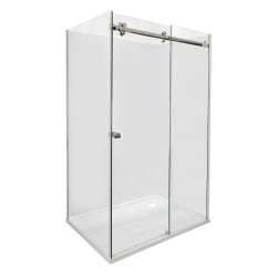 ARCO Frameless Rectangle Shower 1200 x 900mm - Right Short Wall - Liner & 40mm Profile tray