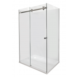 ARCO Frameless Rectangle Shower 1200 x 900mm - Left Short Wall - Liner & 40mm Profile tray