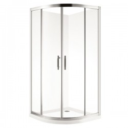 VOGUE Round Shower 900mm Double Door 80mm Profile Tray
