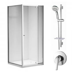 ARCO Square Shower 900mm * Eco Shower Mixer * Single Function Slide Set * Combo Deal