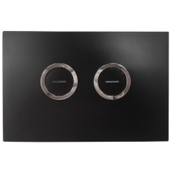 In-wall Toilet Cistern Pneumatic Accessibility Flush Panel - Black