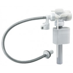 Toilet Inlet Valve Side Entry + Male Stainless Steel Hose