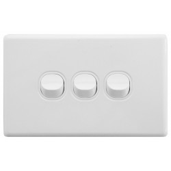 Electrical Light Switch Triple