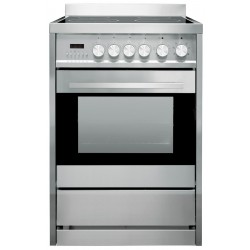 Freestanding Oven 56L 600mm Stainless Steel With 4 Zone Ceramic Cooktop
