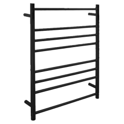 VOGUE Black Heated Towel Rail 8 Bar