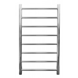 VOGUE SS Compact Heated Towel Rail 8 Bar - Right