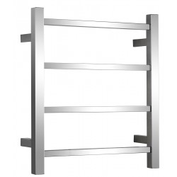 Heated Towel Rail 4 Bar Stainless Steel Right Hand Concealed
