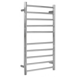 VOGUE SS Compact Heated Towel Rail 10 Bar - Left
