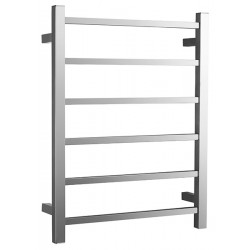 VOGUE SS Heated Towel Rail 6 Bar - Left