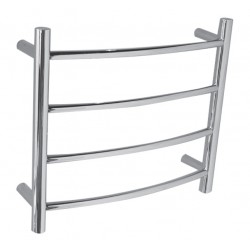 VOGUE SS Compact Heated Towel Rail 4 Bar - Left