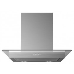 VOGUE Flat Glass Canopy Rangehood 600mm Stainless Steel
