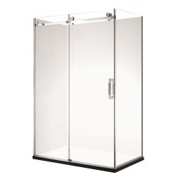 Frameless Rectangle Shower 1200 x 900mm Left Short Wall 60mm Profile Tray