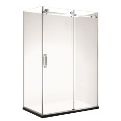 VOGUE Frameless Rectangle Shower 1200 x 900mm Right Short Wall 60mm Profile Tray