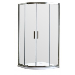 ARCO Round Shower 1000mm Double Door 40mm Profile Tray