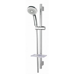 NOVO Single Function Slide Shower - Includes Soap Dish & Elbow - Unequal Pressure