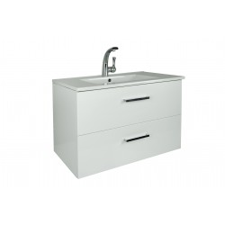 NOVO Wall Vanity 750mm 2 Drawer - CLASSIC Ceramic Top