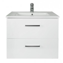 NOVO Wall Vanity 600mm 2 Drawer - CLASSIC Ceramic Top